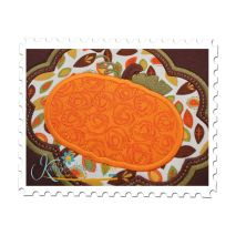 Elegant Frame Pumpkin Applique Close Up