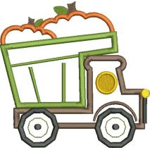 Pumpkin Dump Truck Applique Snap Shot