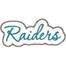 Raiders Applique Script Zig Zag Snap Shot