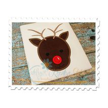 Reindeer Head Applique without Bow