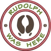 Rudolph was here applique