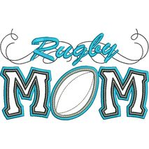 Rugby Mom Applique with a Twist Snap Shot