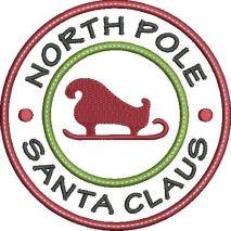 Santa Claus Circle Applique Snap Shot