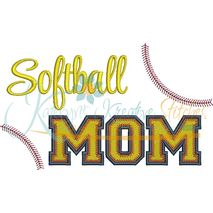 Softball MOM Filled Snap Shot (Numbers not included)