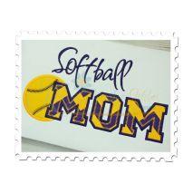 Softball MOM Applique