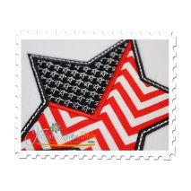 Star Flag Applique Close Up