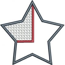 Star Flag Applique Snap Shot