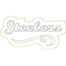 Steelers Distressed Applique Snap Shot
