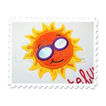 Sun Applique Close Up