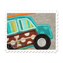 Surfer Boy Car Applique Close Up