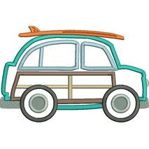 Surfer Boy Car Applique Snap Shot