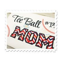 Tee Ball MOM Applique (Numbers not included)