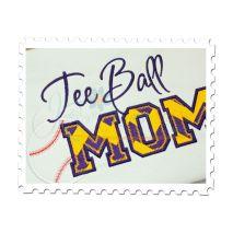 Tee Ball MOM Applique