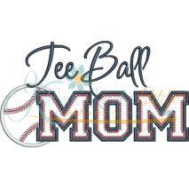 Tee Ball MOM Applique Snap Shot
