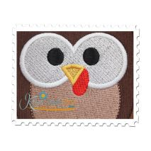 Thanksgiving Hoot Applique Close U