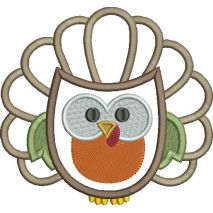 Thanksgiving Hoot Applique Snap Shot