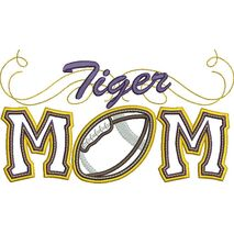 Tiger Mom Applique with Football Snap Shot