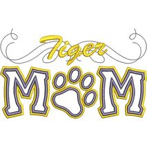 Tiger Mom Applique Snap Shot
