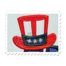 USA Applique with Hat
