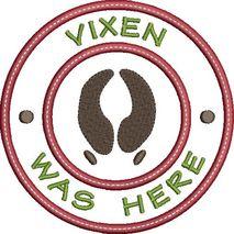 Vixen was here applique