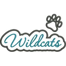Wildcats Applique Script Satin Snap Shot