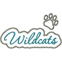 Wildcats Applique Script Zig Zag Snap Shot