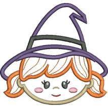 Witch Applique Snap Shot