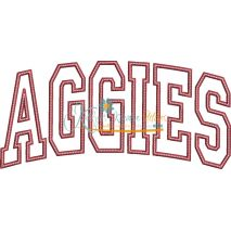 Aggies Arched Applique Snap Shot