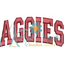 Aggies Arched 4x4 Satin Snap Shot