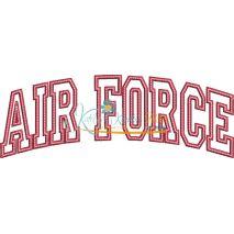 Air Force Arched Applique Satin Snap Shot