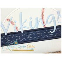 Baseball with Chain Applique (Text not Included)