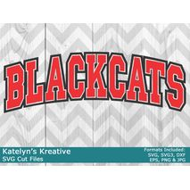 Blackcats Arched SVG