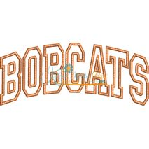 Bobcats Arched Applique Snap Shot