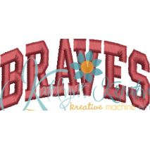 Braves Arched 4x4 Satin Snap Shot