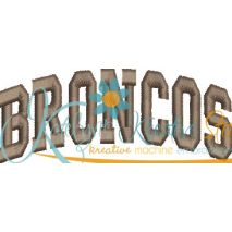 Broncos Arched 4x4 Satin Snap Shot
