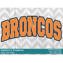 Broncos Arched SVG