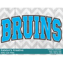 Bruins Arched SVG