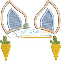 Bunny Ear Monogram Applique Snap Shot