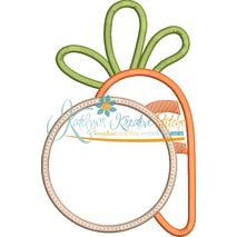 Carrot Monogram Applique Snap Shot