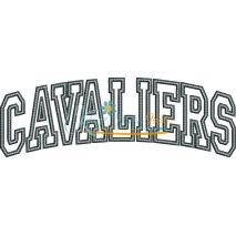 Cavaliers Arched Applique Snap Shot