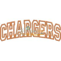 Chargers Arched Applique Snap Shot