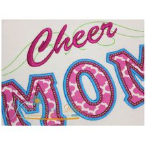 Cheer Mom Applique with a Twist Close Up - No Megaphone