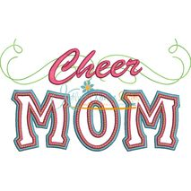 Cheer Mom Applique with a Twist Snap Shot - No Megaphone