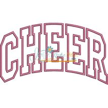 Cheer Arched Applique Snap Shot