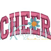 Cheer Arched 4x4 Satin Snap Shot
