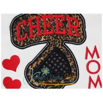 Cheer Mom Block Arc Applique Close Up