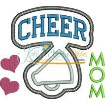 Cheer Mom Block Arc Applique Snap Shot