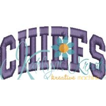Chiefs Arched 4x4 Satin Snap Shot