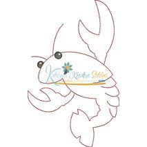 Crawfish Redwork Snap Shot