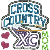Cross Country Mom Block Arc Applique Snap Shot